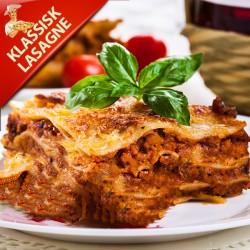 Klassisk Lasagne, hjemmelavet okse lasagne med bechamelsauce