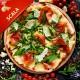 Pizza Scala med tomat, mozzarella, kødstrimler, champignon, rødløg og paprika